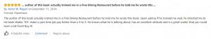 Amazon Review - Waiter 101 - Asher Ragan